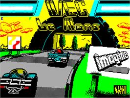 Title screen of WEC Le Mans on the Sinclair ZX Spectrum.