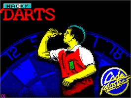 Title screen of Wacky Darts on the Sinclair ZX Spectrum.