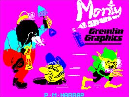Title screen of Wanted: Monty Mole on the Sinclair ZX Spectrum.