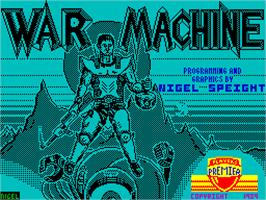 Title screen of War Machine on the Sinclair ZX Spectrum.