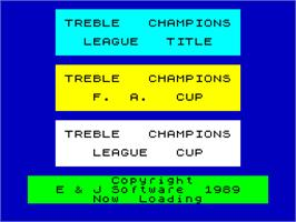 Title screen of We Are the Champions on the Sinclair ZX Spectrum.