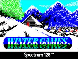 Title screen of Winter Games on the Sinclair ZX Spectrum.