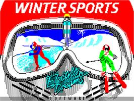 Title screen of Winter Sports on the Sinclair ZX Spectrum.