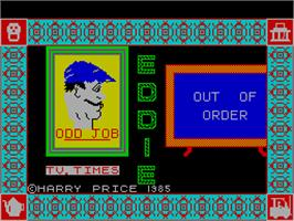 Title screen of Witchfiend / Odd Job Eddie on the Sinclair ZX Spectrum.