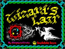 Title screen of Wizard's Lair on the Sinclair ZX Spectrum.
