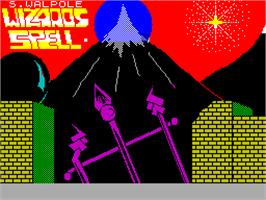 Title screen of Wizards Spell on the Sinclair ZX Spectrum.
