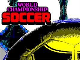 Title screen of World Championship Soccer on the Sinclair ZX Spectrum.
