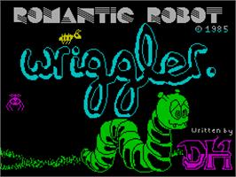 Title screen of Wriggler on the Sinclair ZX Spectrum.