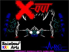 Title screen of X-Out on the Sinclair ZX Spectrum.