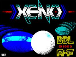 Title screen of Xeno on the Sinclair ZX Spectrum.