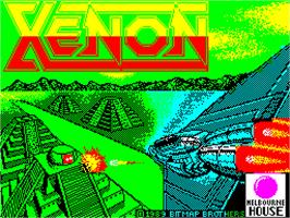 Title screen of Xenon on the Sinclair ZX Spectrum.