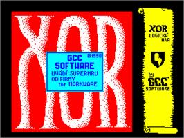 Title screen of Xor on the Sinclair ZX Spectrum.