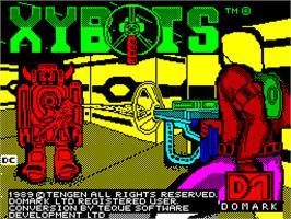 Title screen of Xybots on the Sinclair ZX Spectrum.