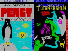 Title screen of Yenght on the Sinclair ZX Spectrum.