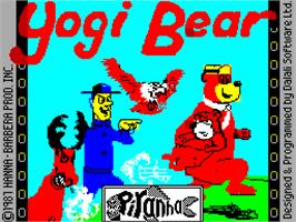 Title screen of Yogi Bear on the Sinclair ZX Spectrum.
