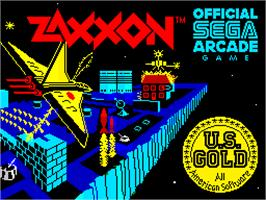 Title screen of Zaxxon on the Sinclair ZX Spectrum.