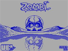 Title screen of Zombi on the Sinclair ZX Spectrum.