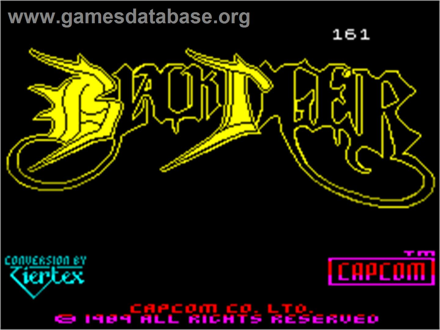 Black Tiger - Sinclair ZX Spectrum - Artwork - Title Screen