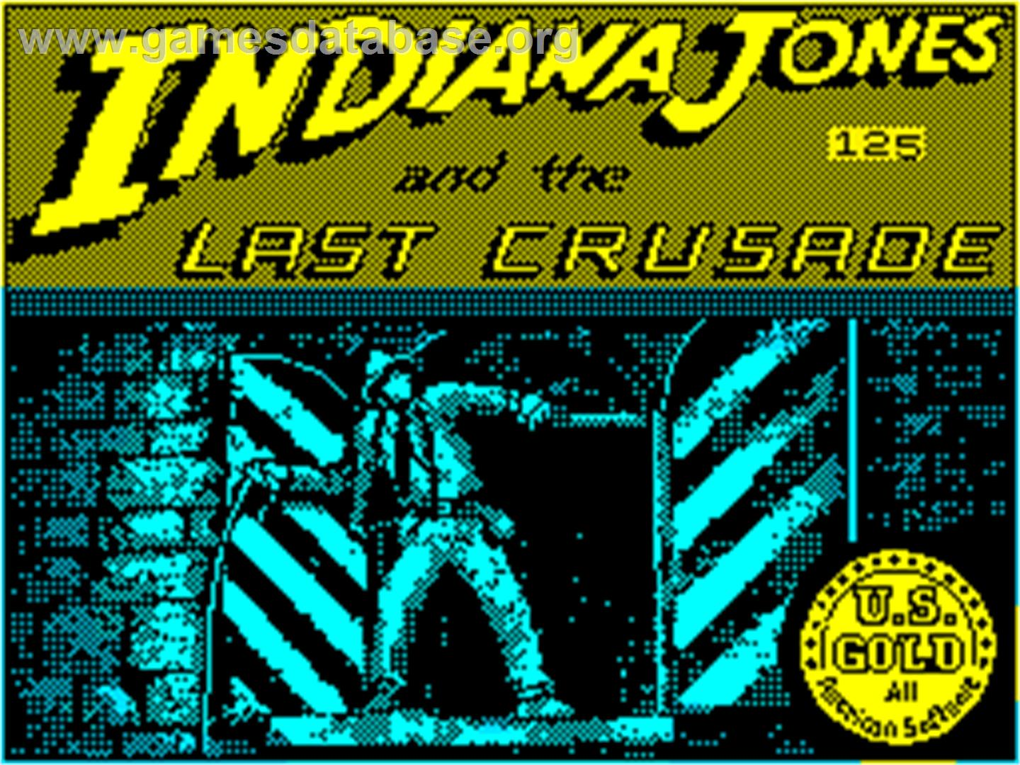 Title screen of Indiana Jones and the Last Crusade: The Action Game on
