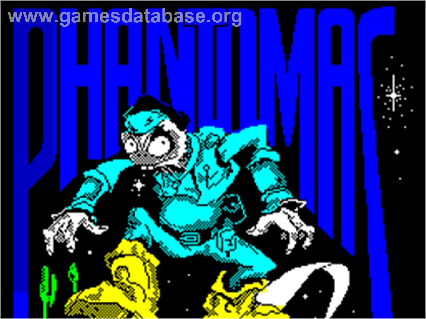 Phantomas - Sinclair ZX Spectrum - Artwork - Title Screen
