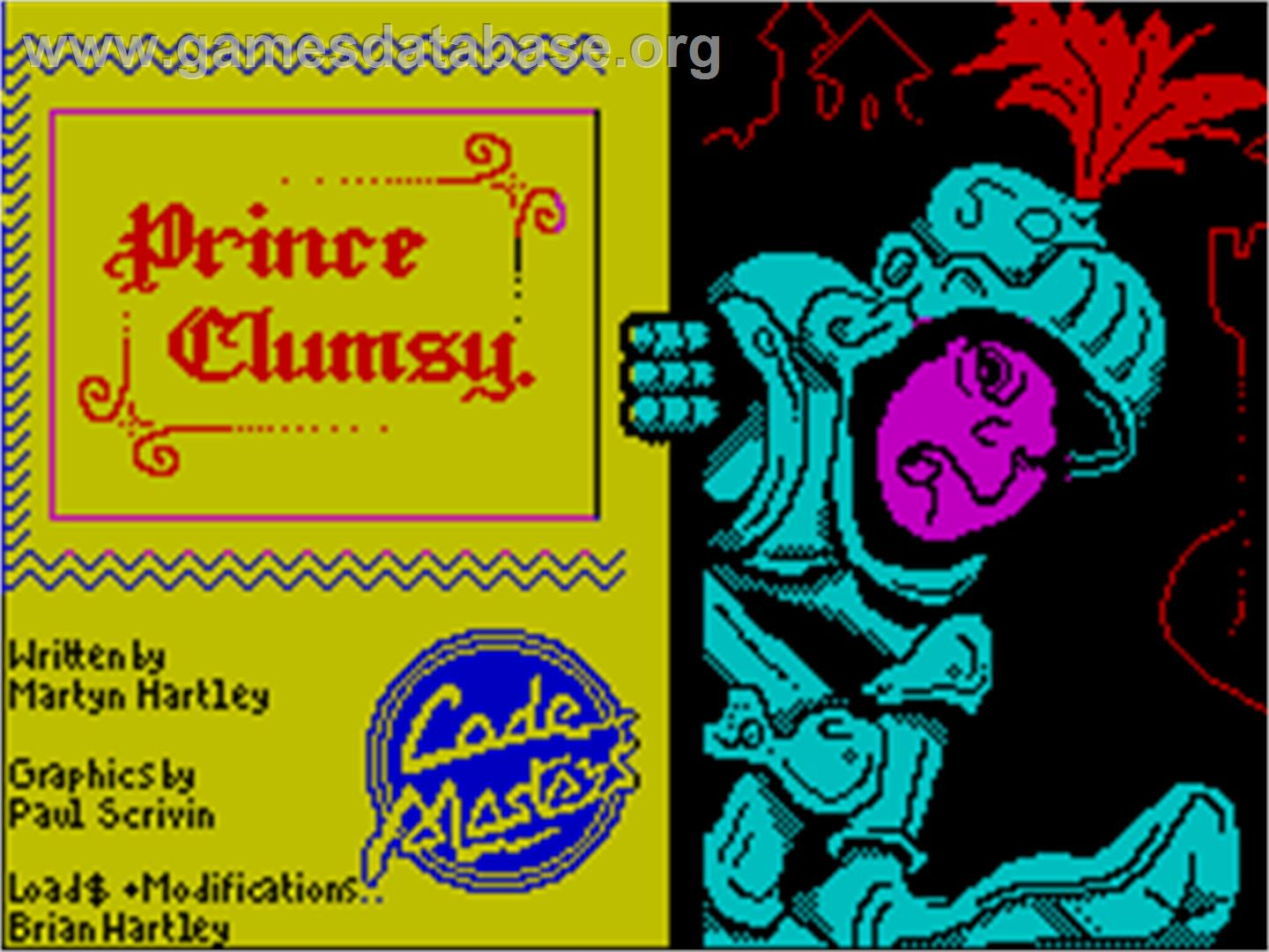 Prince Clumsy - Sinclair ZX Spectrum - Artwork - Title Screen