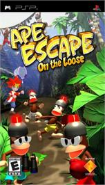 Box cover for Ape Escape: On the Loose on the Sony PSP.