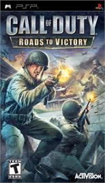 Box cover for Call of Duty: Roads to Victory on the Sony PSP.