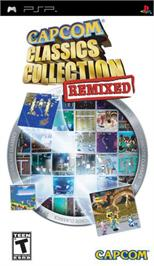 Box cover for Capcom Classics Collection Remixed on the Sony PSP.
