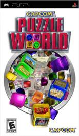 Box cover for Capcom Puzzle World on the Sony PSP.