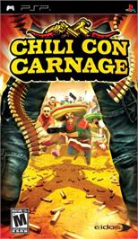Box cover for Chili Con Carnage on the Sony PSP.