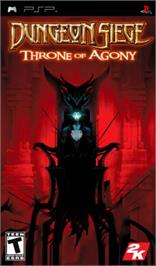 Box cover for Dungeon Siege: Throne of Agony on the Sony PSP.
