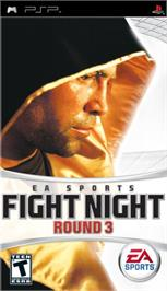 Box cover for Fight Night Round 3 on the Sony PSP.