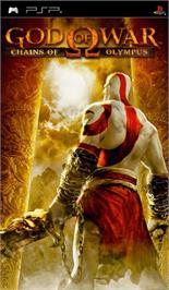Box cover for God of War: Chains of Olympus on the Sony PSP.