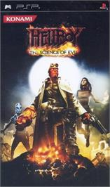 Box cover for Hellboy: The Science of Evil on the Sony PSP.