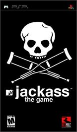 Box cover for Jackass: The Game on the Sony PSP.