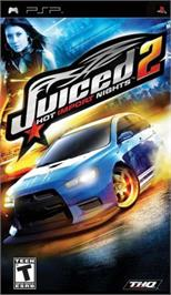 Box cover for Juiced 2: Hot Import Nights on the Sony PSP.