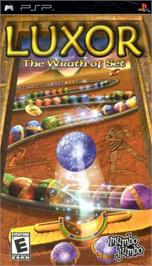 Box cover for Luxor: The Wrath of Set on the Sony PSP.