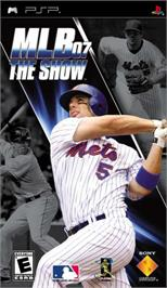 Box cover for MLB 07: The Show on the Sony PSP.