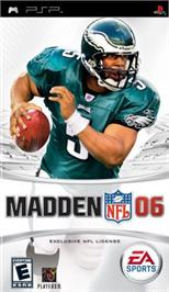 Box cover for Madden NFL 6 on the Sony PSP.