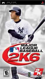 Box cover for Major League Baseball 2K6 on the Sony PSP.