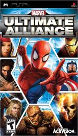 Box cover for Marvel Ultimate Alliance on the Sony PSP.