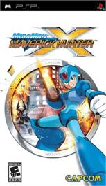 Box cover for Mega Man Maverick Hunter X on the Sony PSP.