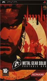 Box cover for Metal Gear Solid: Portable Ops on the Sony PSP.