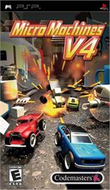 Box cover for Micro Machines V4 on the Sony PSP.