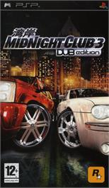 Box cover for Midnight Club 3: DUB Edition on the Sony PSP.