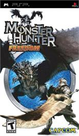 Box cover for Monster Hunter Freedom on the Sony PSP.