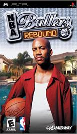 Box cover for NBA Ballers: Rebound on the Sony PSP.