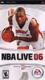 Box cover for NBA Live 8 on the Sony PSP.
