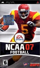 Box cover for NCAA Football 7 on the Sony PSP.