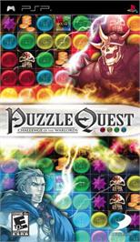 Box cover for Puzzle Quest: Challenge of the Warlords on the Sony PSP.